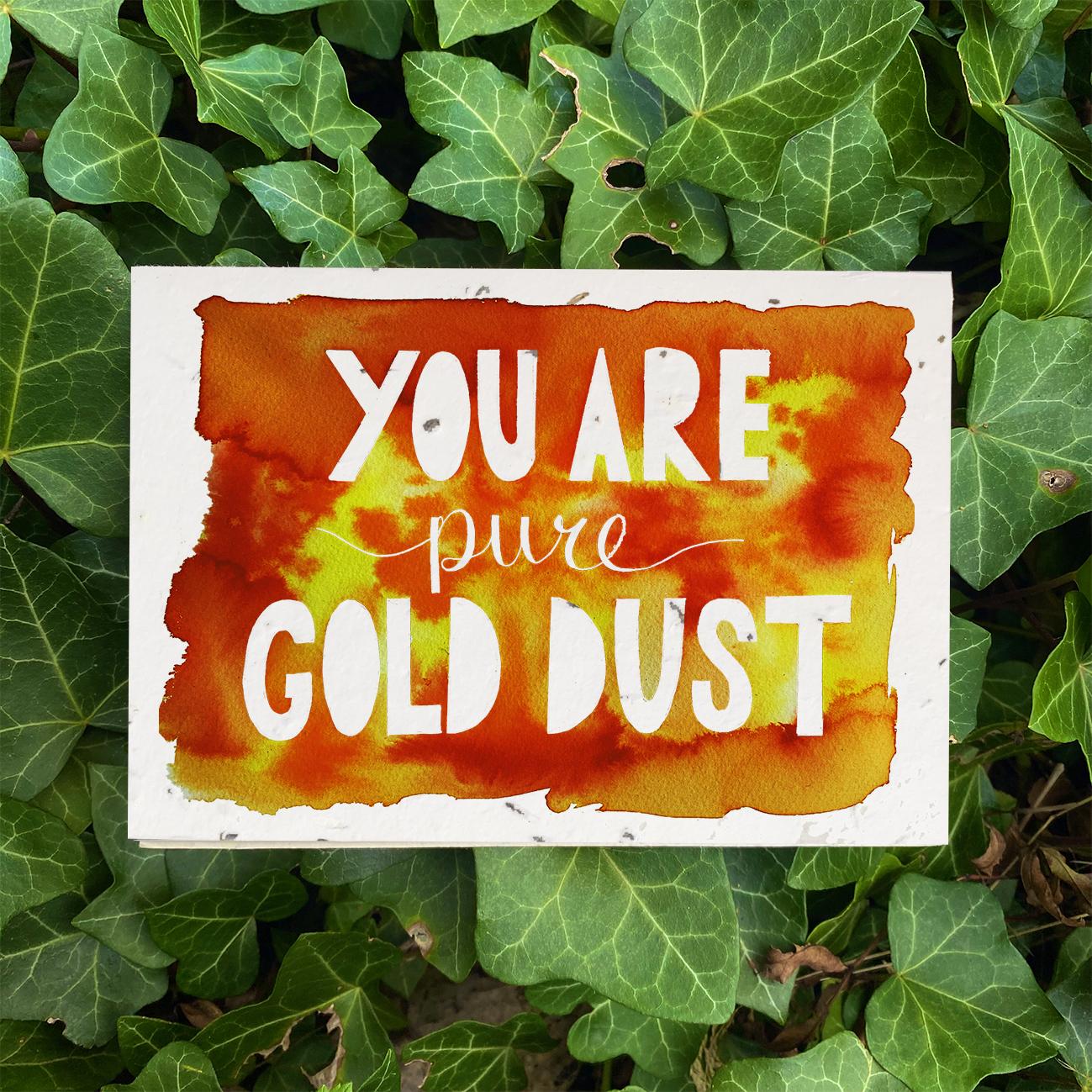 Gold Dust Plantable Card