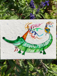 Happy Birthday Alligator Plantable Card