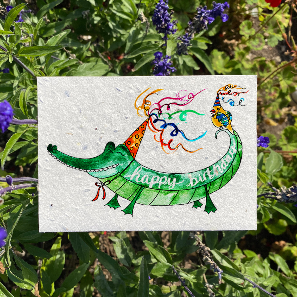 Happy Birthday Alligator Plantable Card