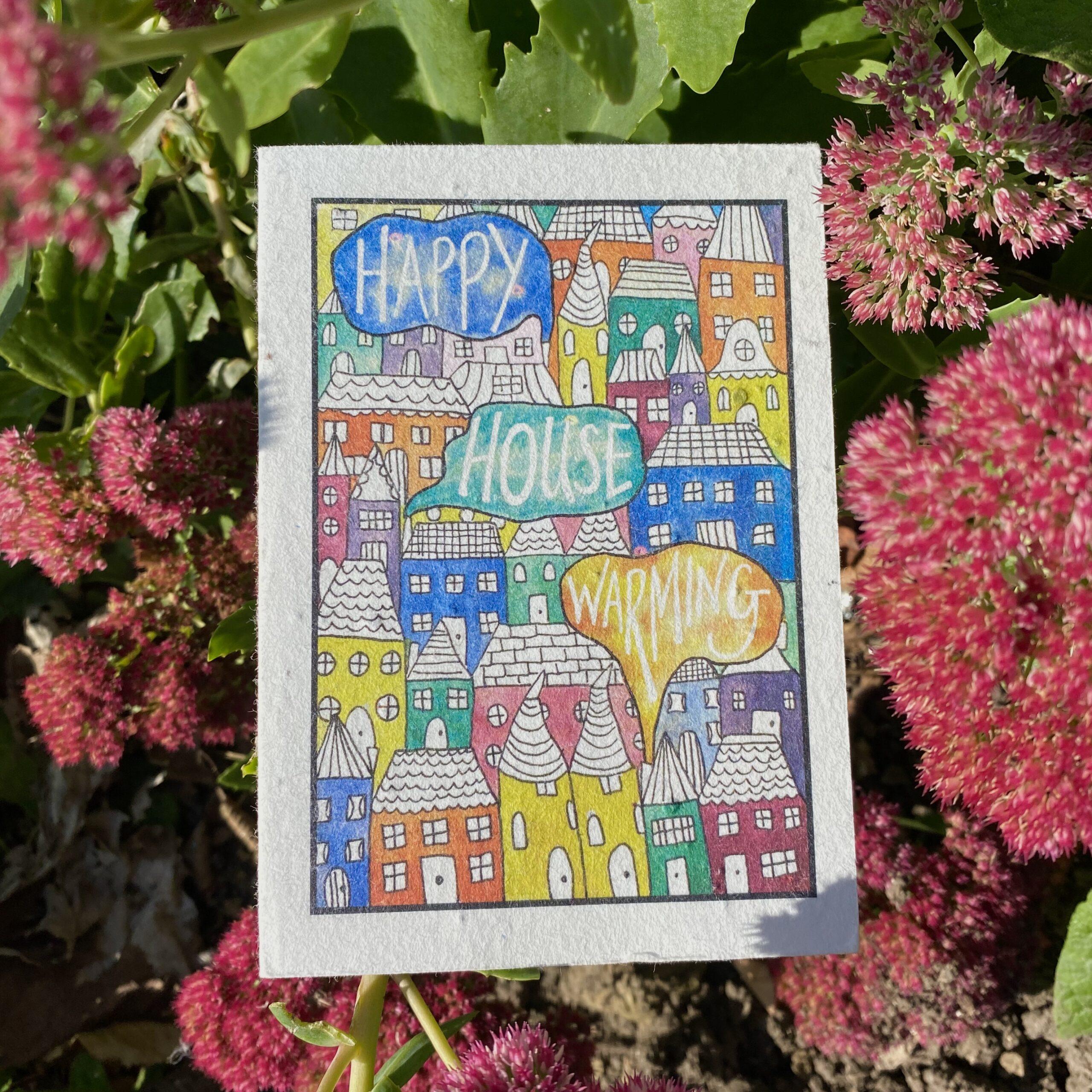 House Warming Plantable Card