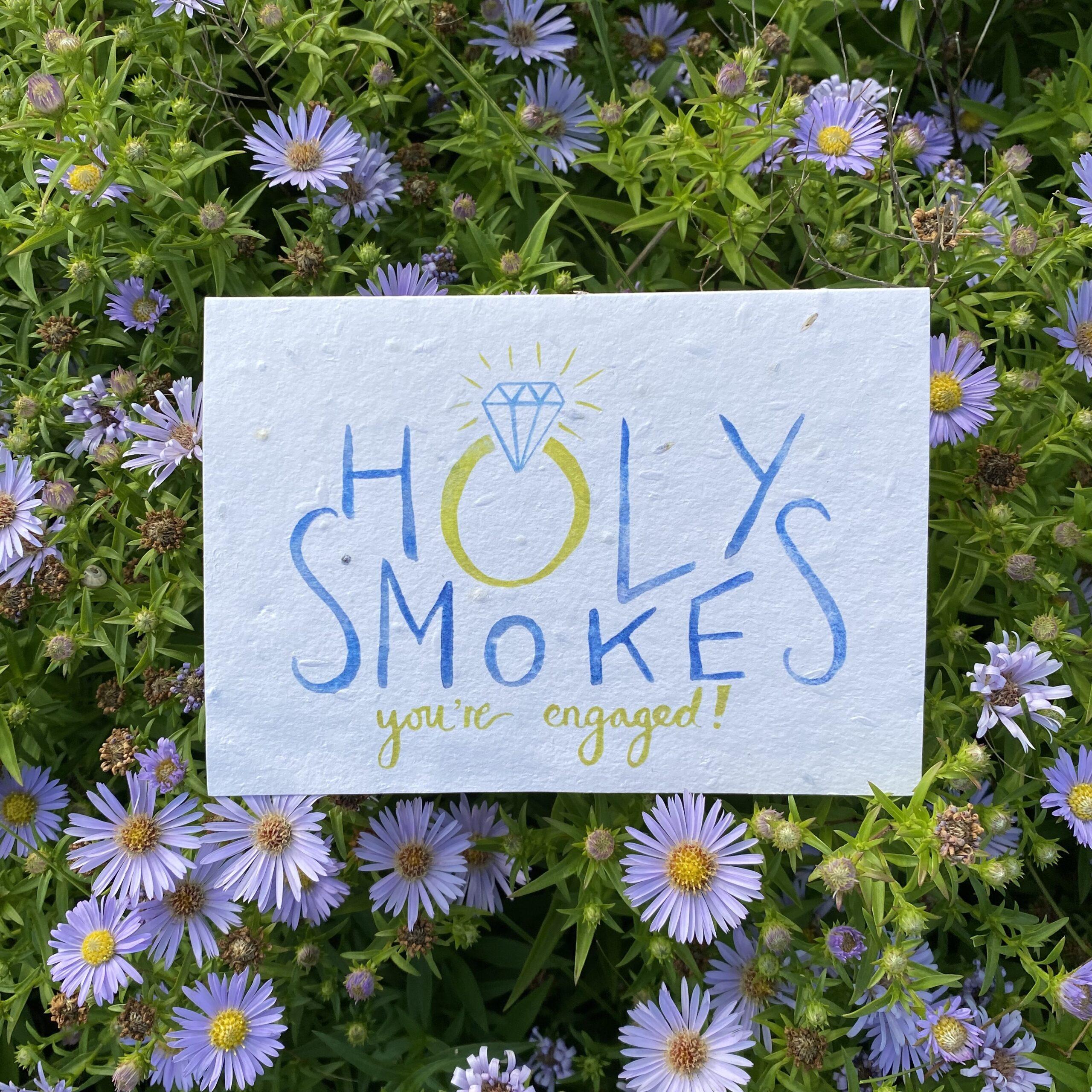 Holy Smokes Plantable Card