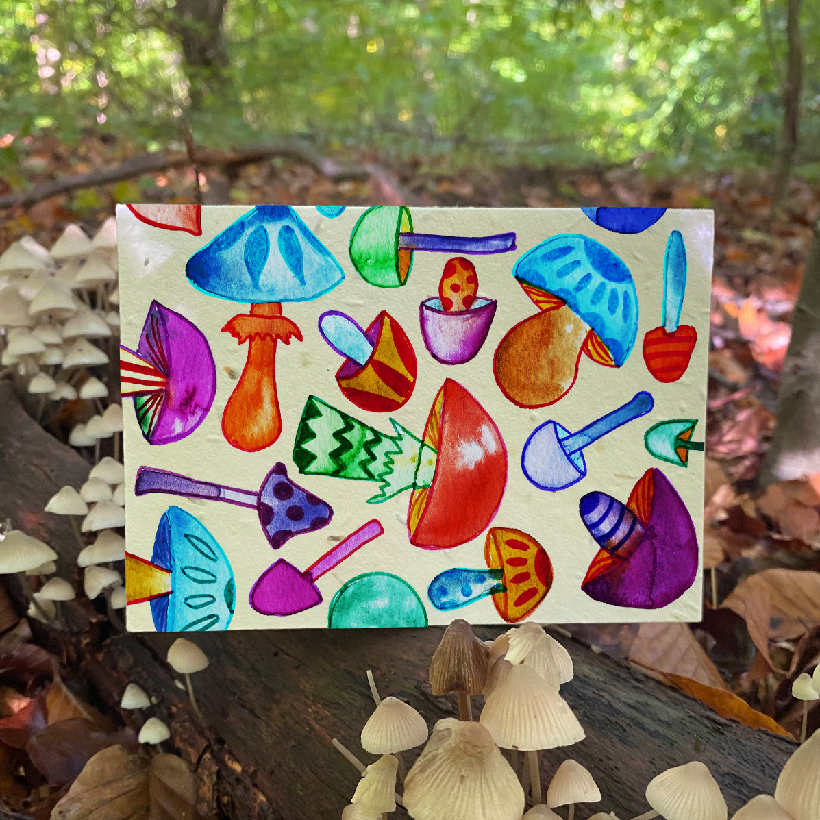Much Room for Mushrooms Plantable Card