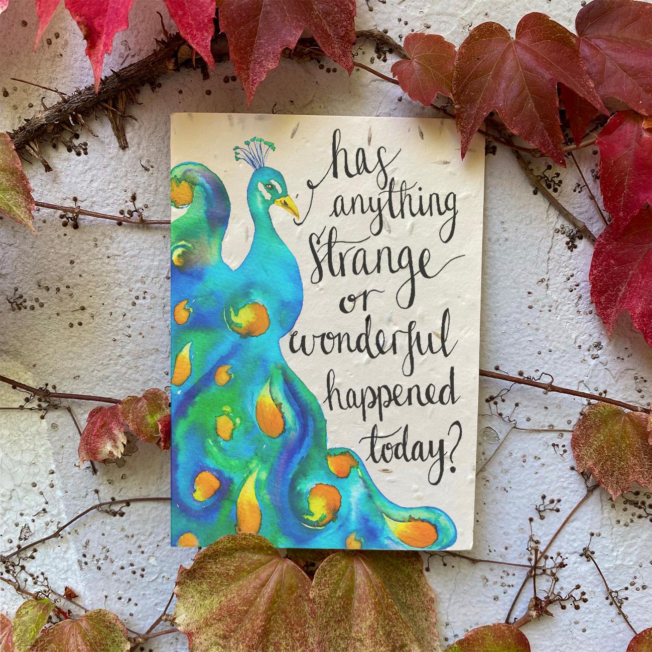 Strange or Wonderful Plantable Card
