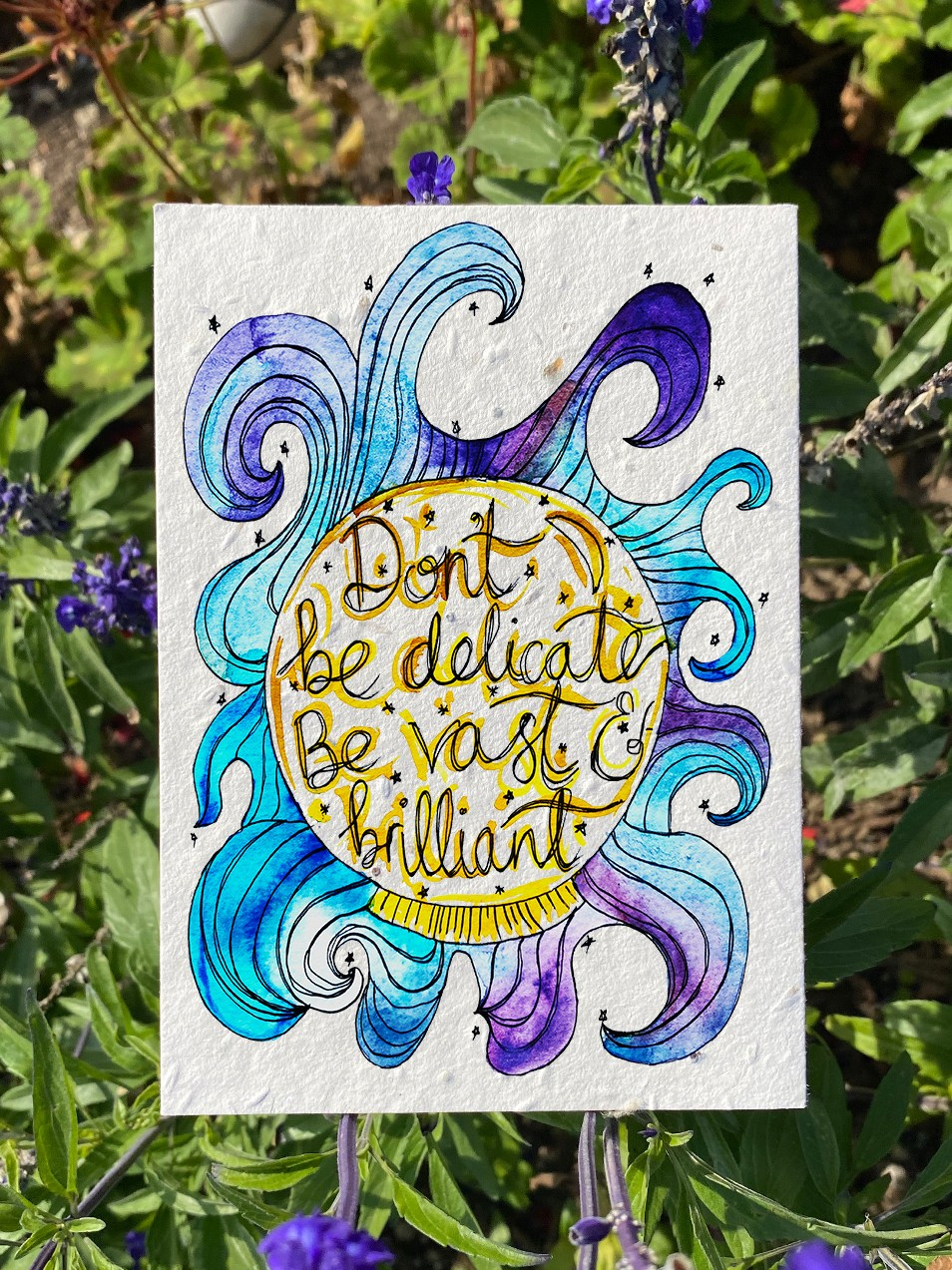 Vast and Brilliant Plantable Card