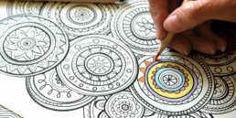 Mindful colouring printable