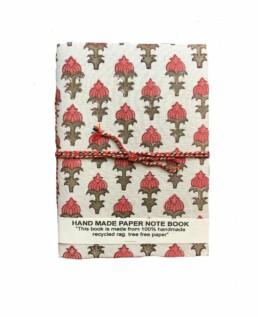 Medium White Pattern Handmade Notebook