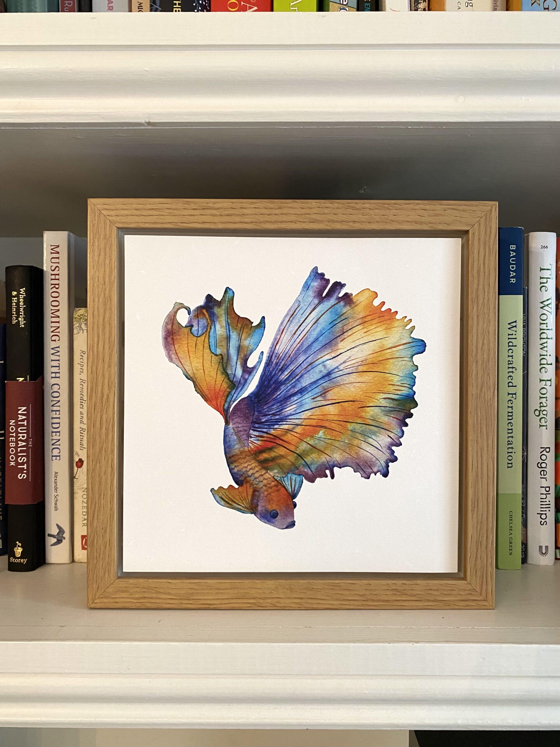 siamese fish eco-friendly art print